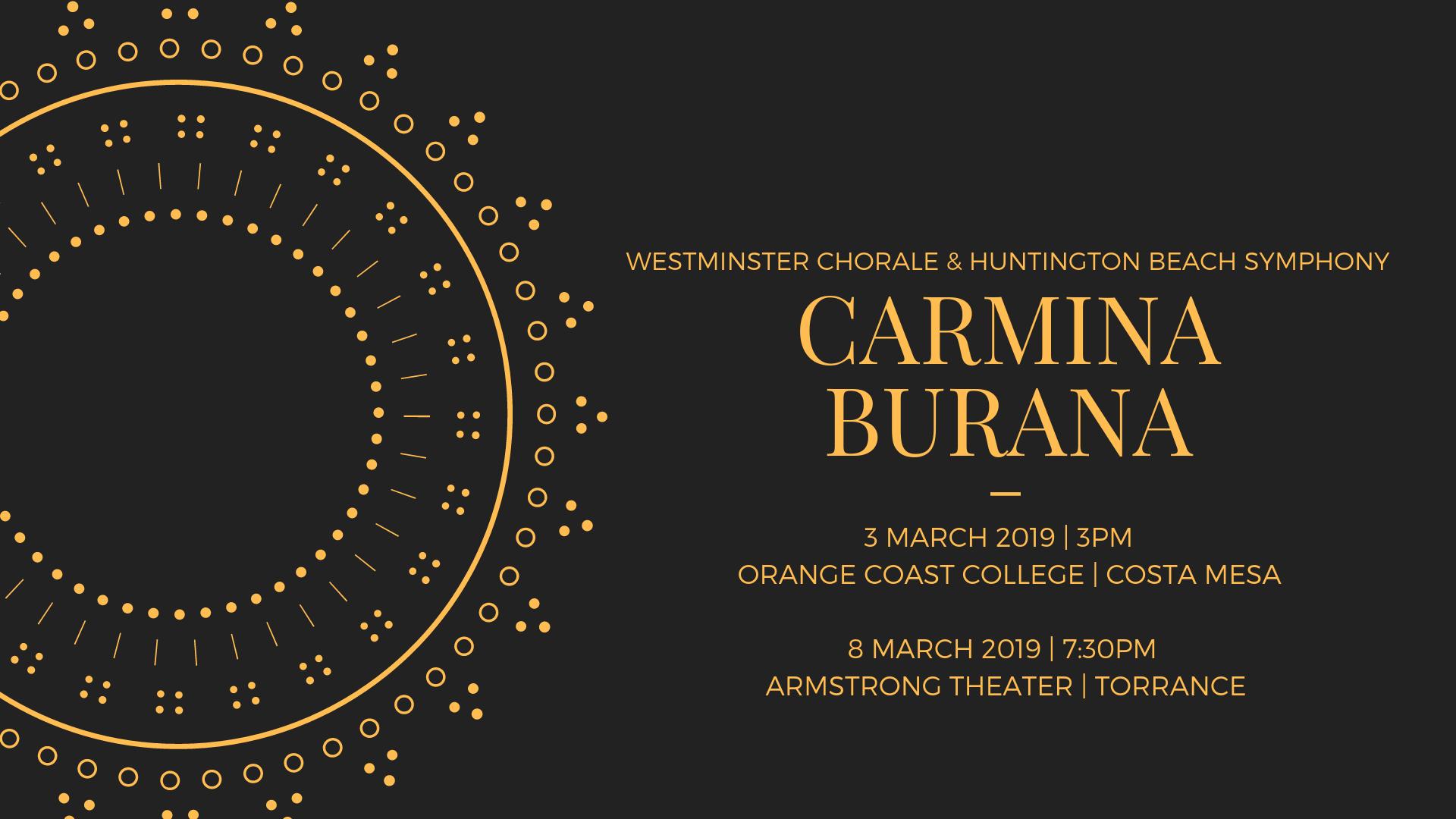 Singers - Carmina Burana - Westminster Chorale